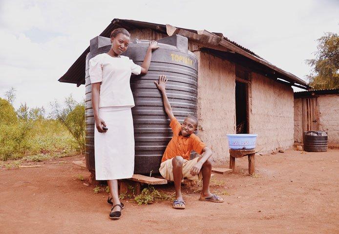 Rainwater gathering system