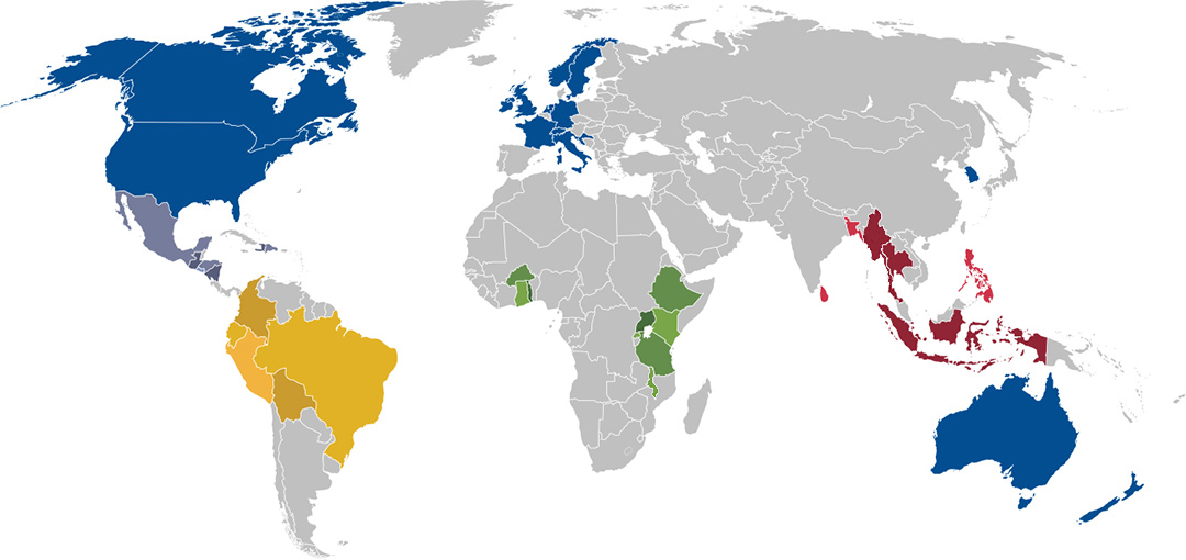 World Map of Partner and Project Countries